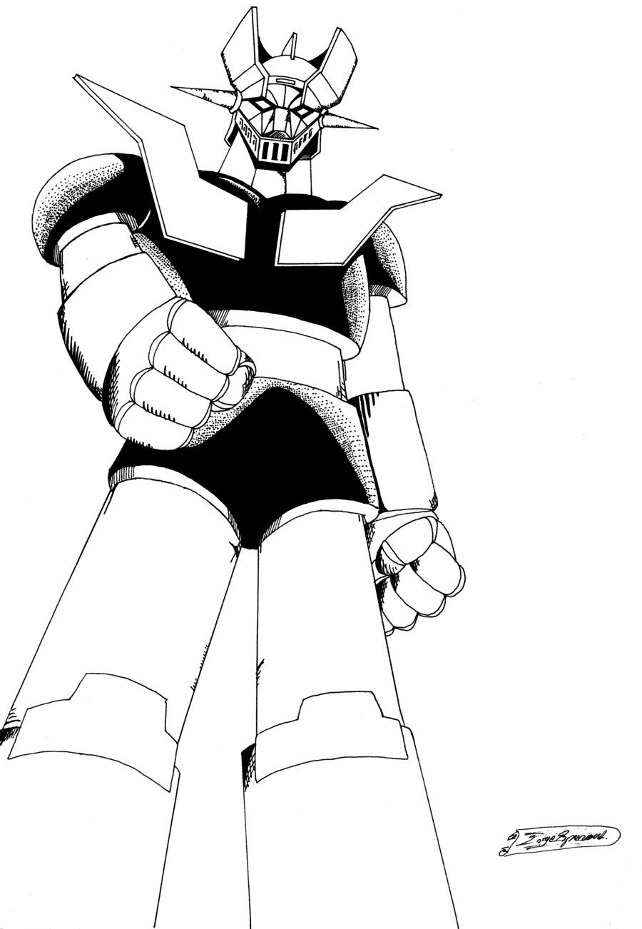 Mazinger Z Dibujos Para Colorear - Dibujos Para Dibujar