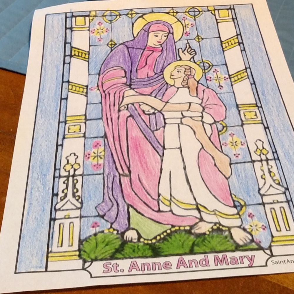 Saint Anne And Mary Coloring Page Child Mary St Anne