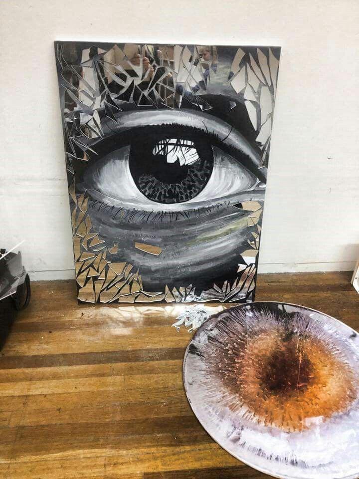 Acrylic On Canvas Broken Mirror Broken Mirror Art