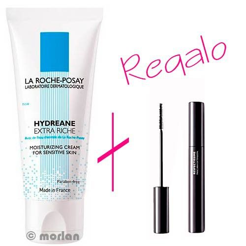 La Roche Posay Hydreane Extra-Rica, 40ml+REGALO Máscara Respectissime Volumen Extremo, 4.5ml