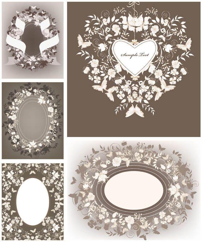 Floral frames for wedding invitations vector photoshop elements floral frames for wedding invitations vector free vector graphicsvector stopboris Images