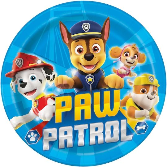 9  Paw Patrol Party Plates, 8Ct By Unique   Michaels® - Paw patrol decorations, Paw patrol birthday party, Paw patrol party supplies, Paw patrol party, Paw patrol birthday, Patrol party - Dig into pizza or burgers at a PAW Patrol birthday party with disposable PAW Patrol Plates  For PAW Patrol themed party supplies, shop Michaels  com  Fuel up for a rescue mission with the help our PAW Patrol Party Plates  These 9inch paper plates feature Chase, Marshall, Rubble, and Skye leaping into action, so they'll look epic at your PAW Patrol birthday party  Use these plates to complete your place settings or leave them in a stack near your buffet station  They're great for holding pizza, sandwiches, or other party foods  Get all set for an awesome birthday bash and shop the rest of our PAW Patrol themed party supplies  Details • 8 PAW Patrol Party Plates • Paper Plates measure 9  • Disposable Plates make cleanup quick and easy • Ideal for a PAW Patrol themed birthday party • Combine with more PAW Patrol party supplies   9  Paw Patrol Party Plates, 8Ct By Unique   Michaels®
