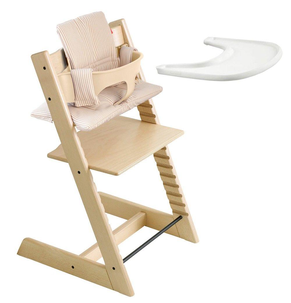 kit complet stokke tripp trapp naturel chaise haute et r hausseur baby stuff pinterest. Black Bedroom Furniture Sets. Home Design Ideas