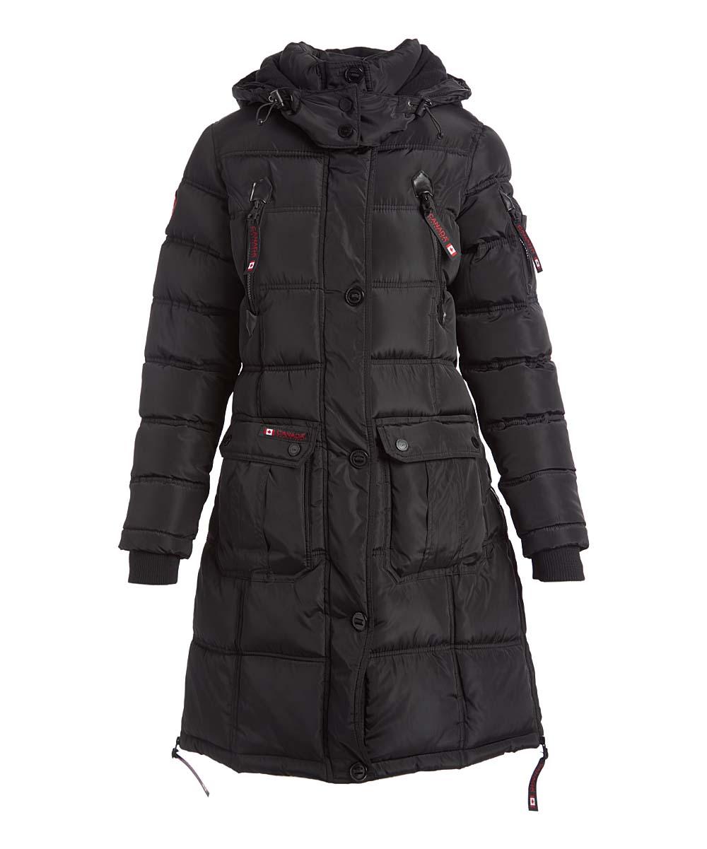 Canada Weather Gear Black Faux Fur Long Hooded Puffer Coat Women Plus Zulily [ 1201 x 1000 Pixel ]
