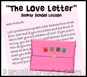 the love letter valentines day bible lesson with printable crafts and games on www