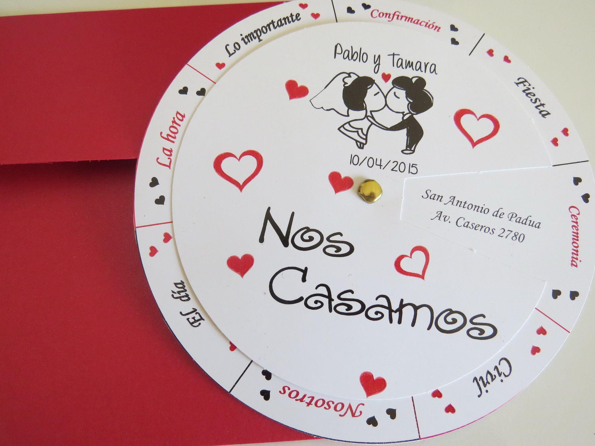 Modelo giratorio con corazones | Tarjetas | Pinterest | Wedding