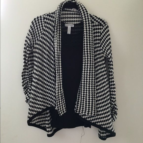 Black And White Checkered Cardigan Size Small My Posh Picks