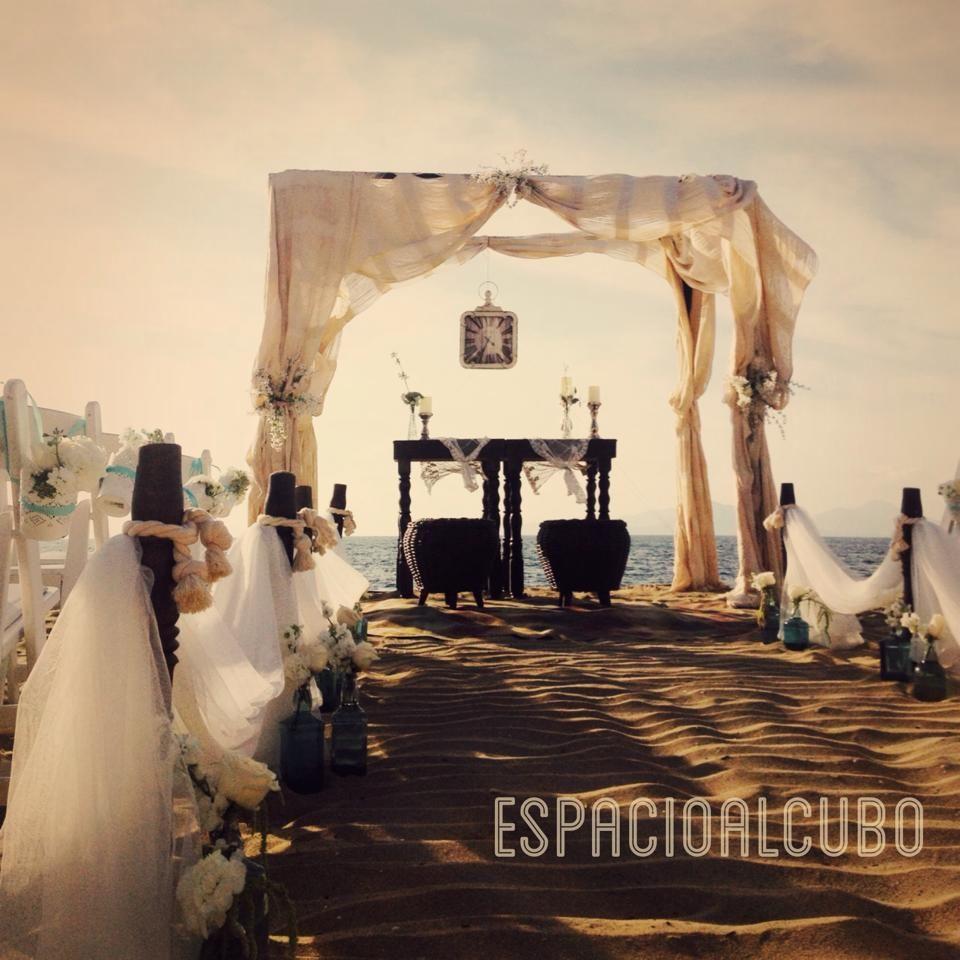 Beach Ceremony by espacioalcubo eventos, Colima, Mexico