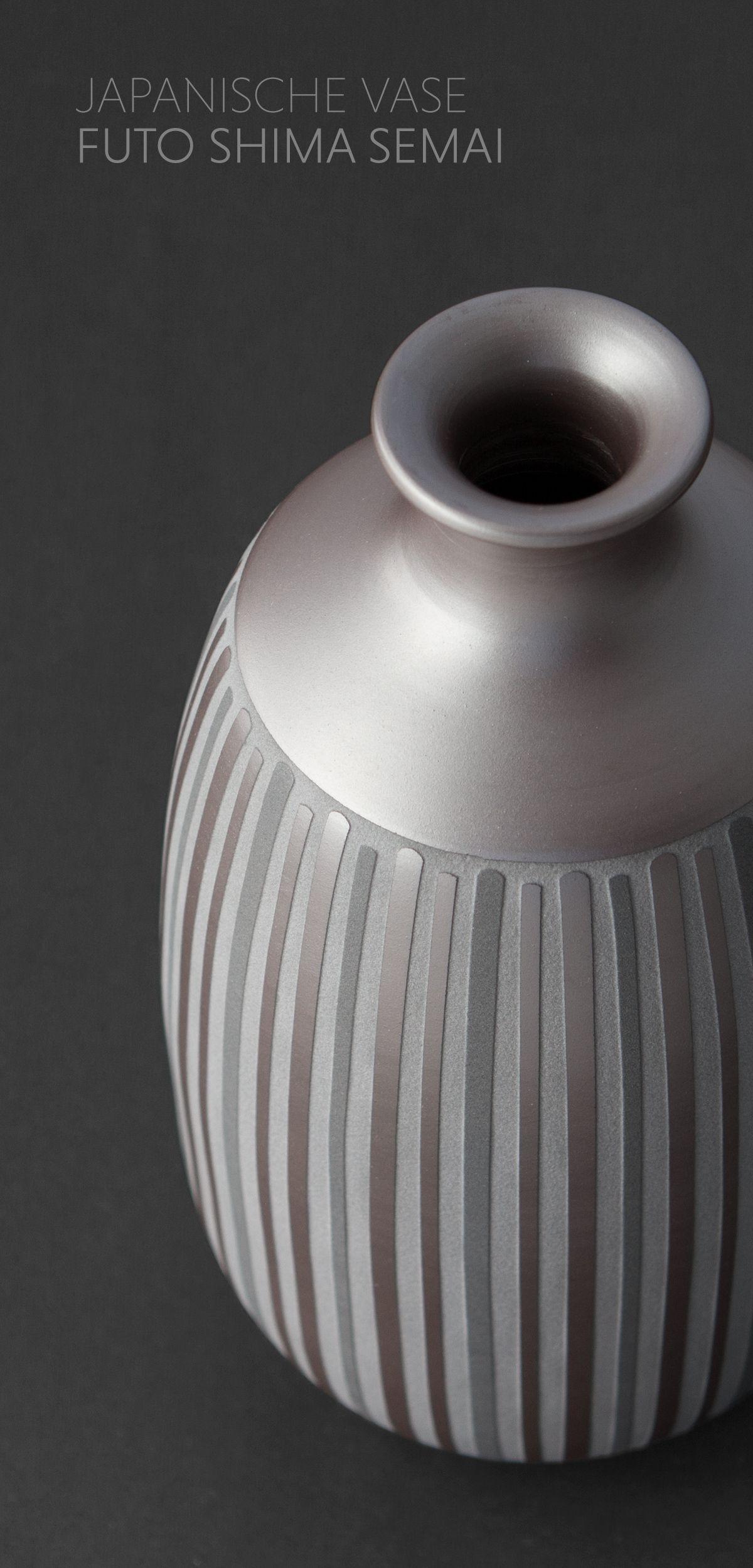 Japanische Vase Futo Shima Semai Mitsukoshi Japan Handgefertigt Osterdeko