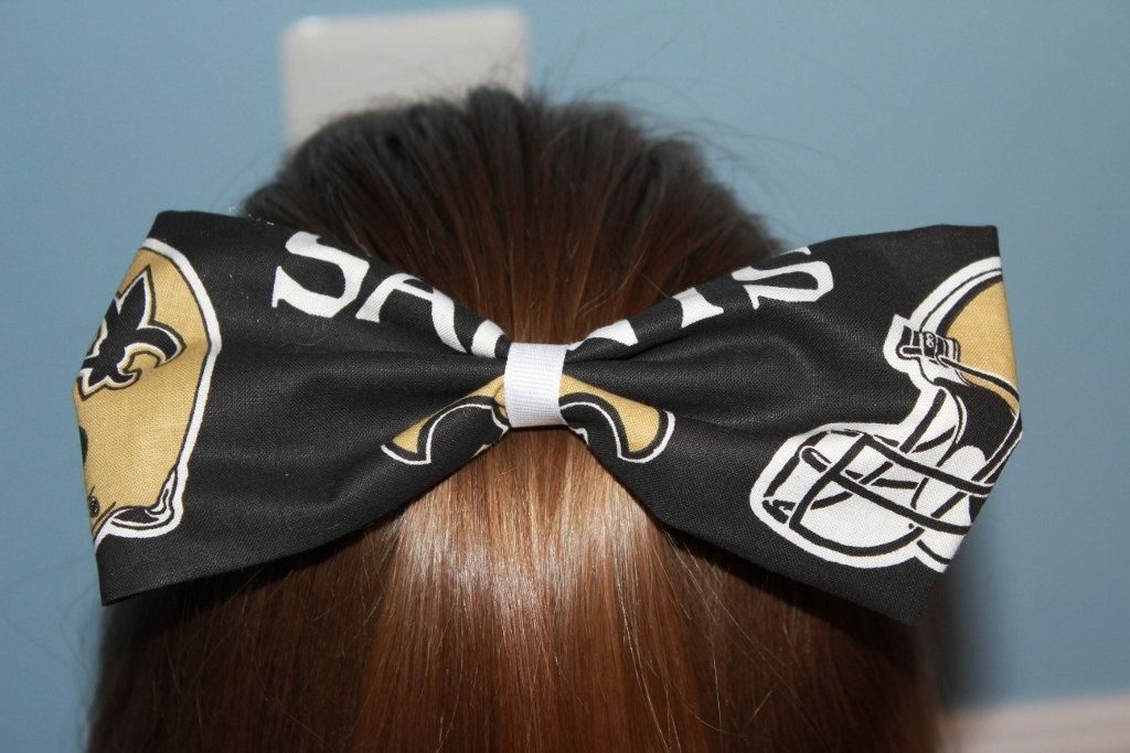 A personal favorite from my Etsy shop https://www.etsy.com/listing/195699315/new-orleans-saints-hair-bowhair-clip