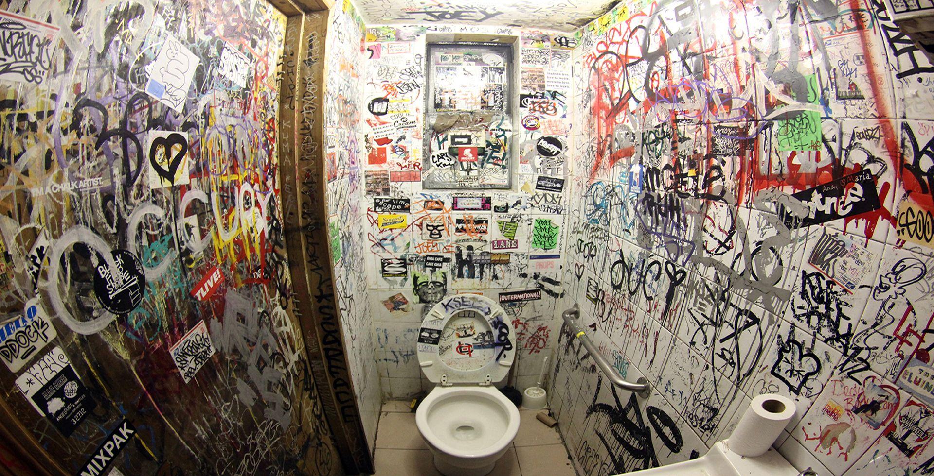 Graffiti Restroom Design