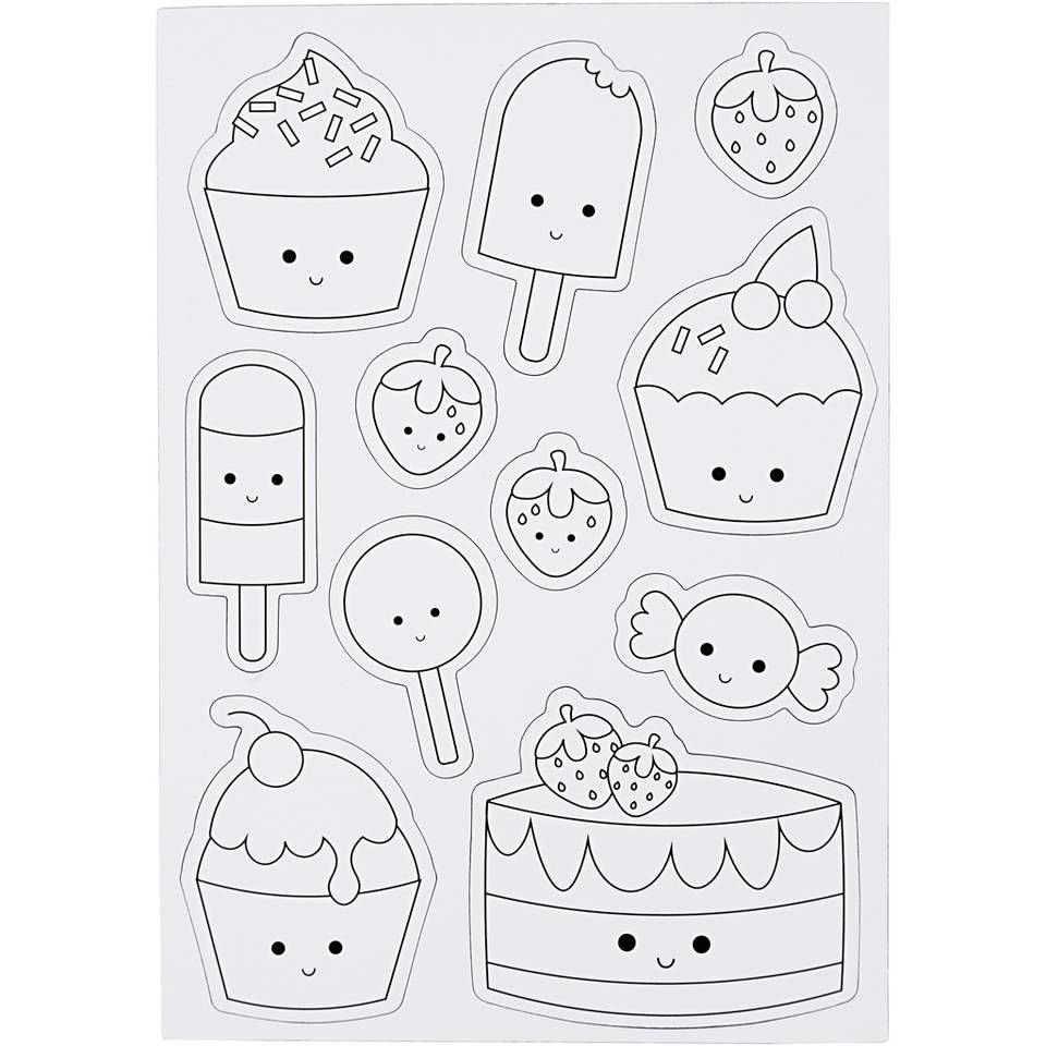 Creotime Magnetische Kleurplaten Ijsjes En Cupcakes 15x21 Cm Kleurplaten Kleuren Activiteiten Voor Kinderen