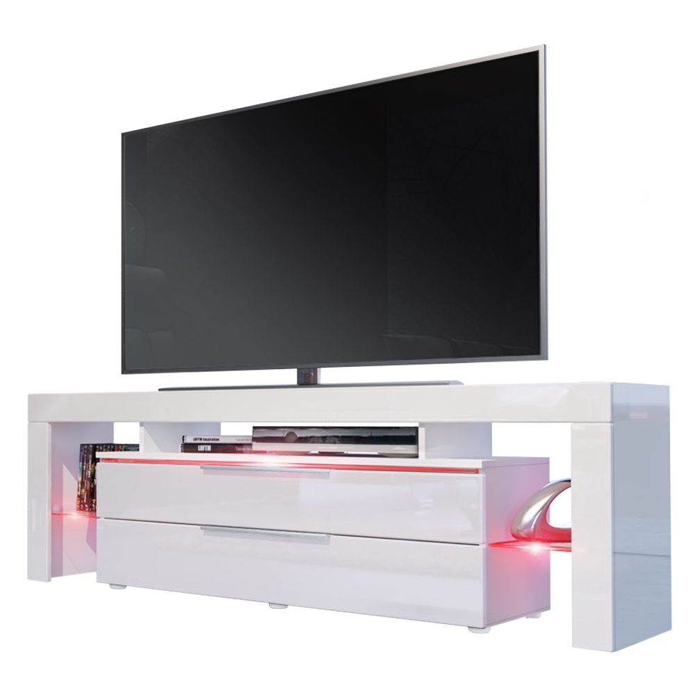 Tv Unterschrank Lima Nova Mit 2 Schubladen Regal Aufbau  # Vladon Meuble Tv