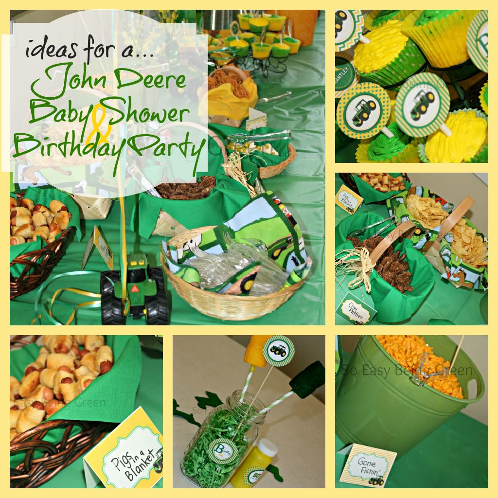 Great John Deere Baby Shower Decor And Food Ideas. Would Make A Cute Birthday  Party Theme