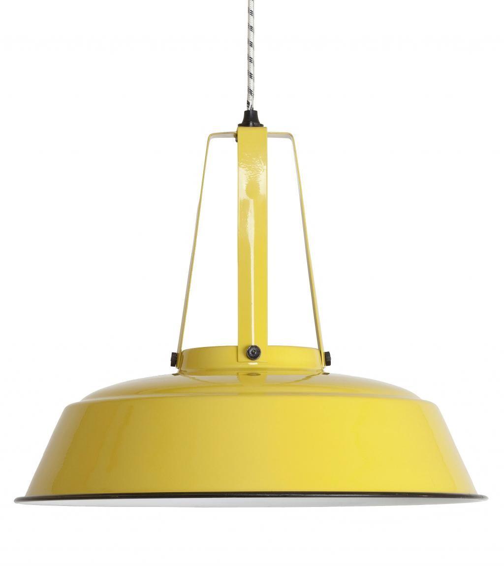 Industriële lamp Workshop L Retro Geel - HK Living