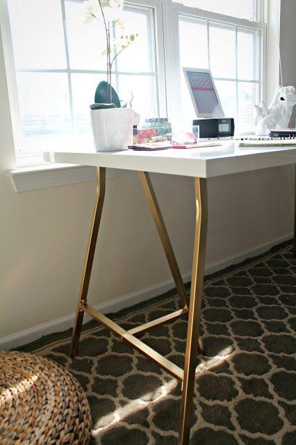 Trestle Leg Desk Ikea Hack Home Office Table Ikea Desk Hack Ikea Table Desk