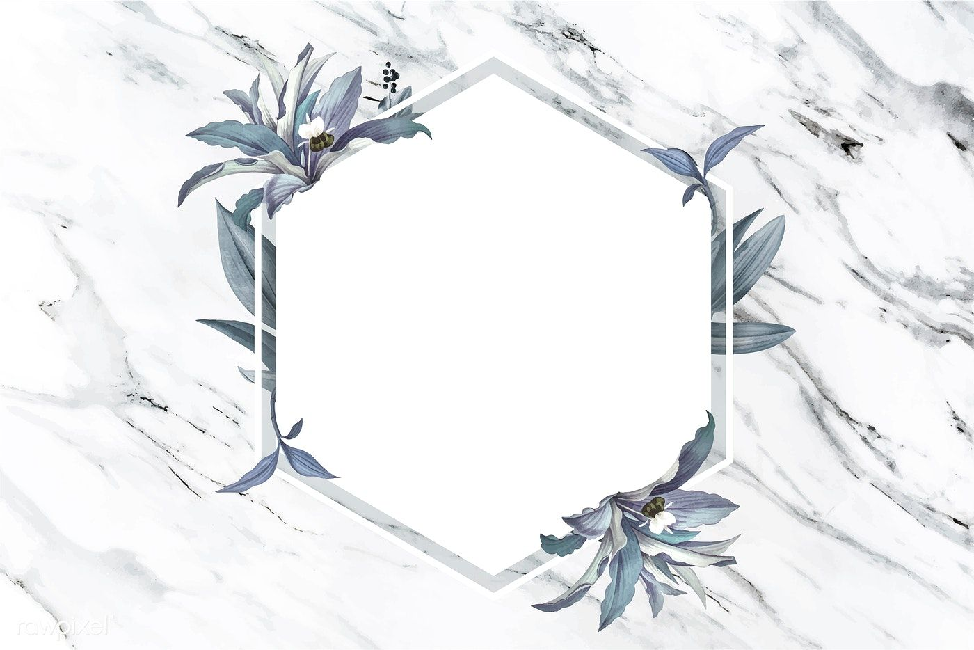 Luxurious floral wedding frame vector premium image by