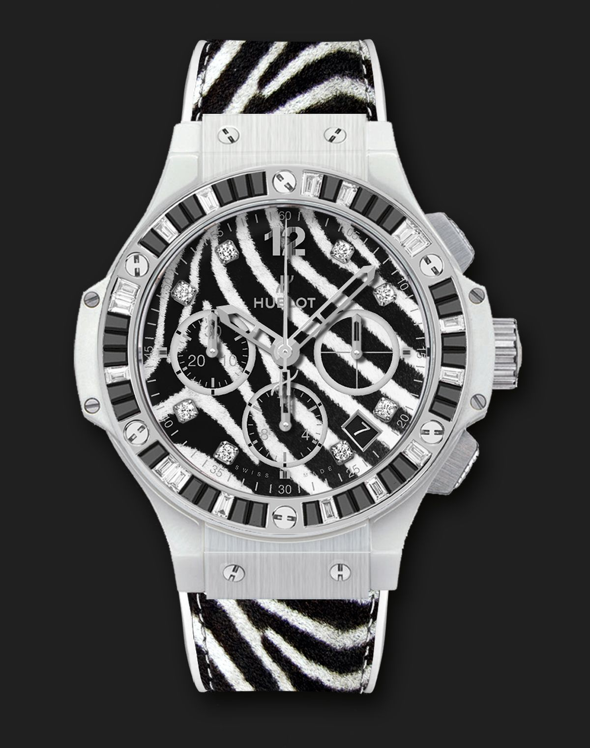 White Zebra Bang #Hublot #Watches
