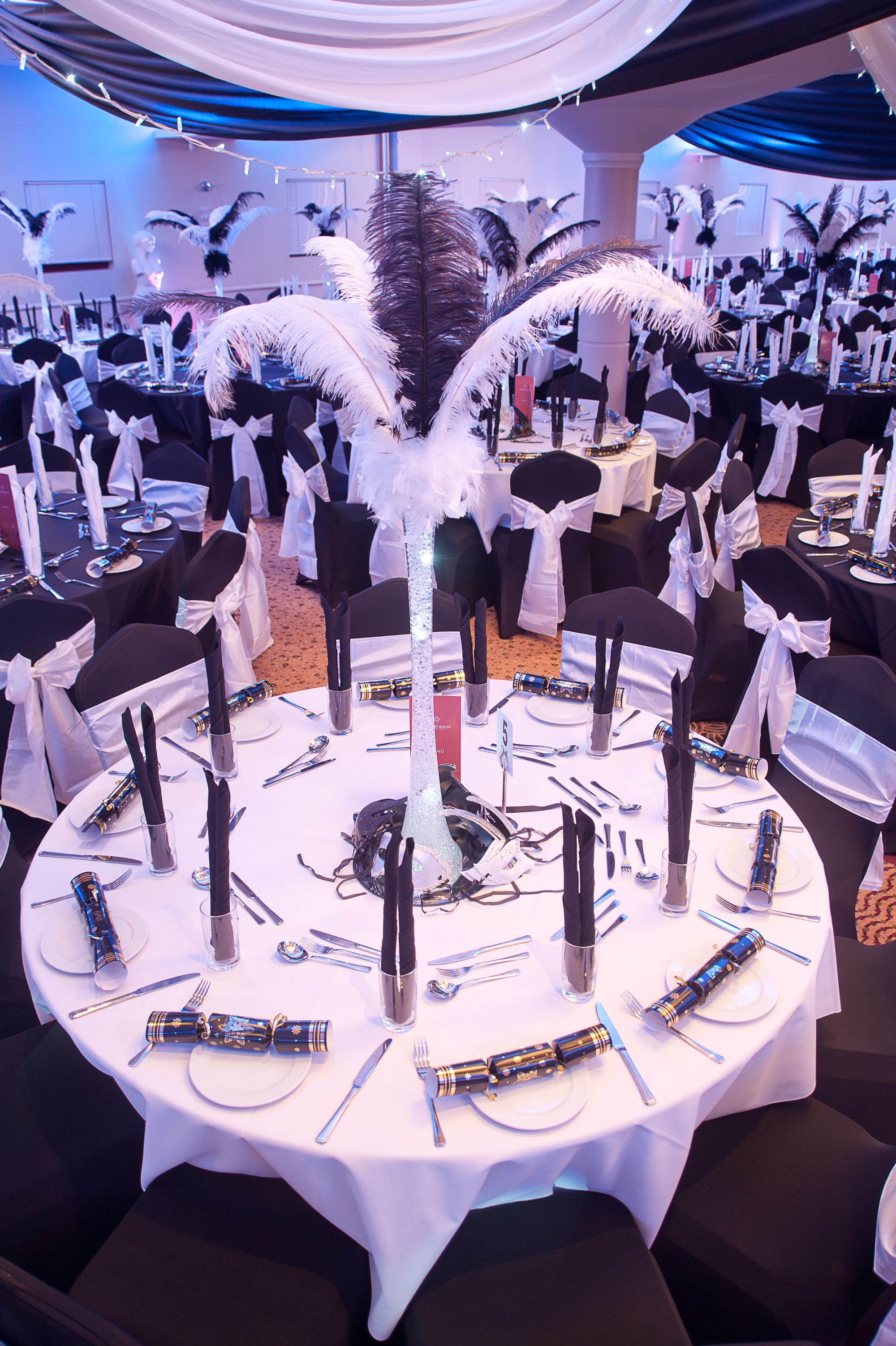 black & white masquerade ball at the auction house. photo