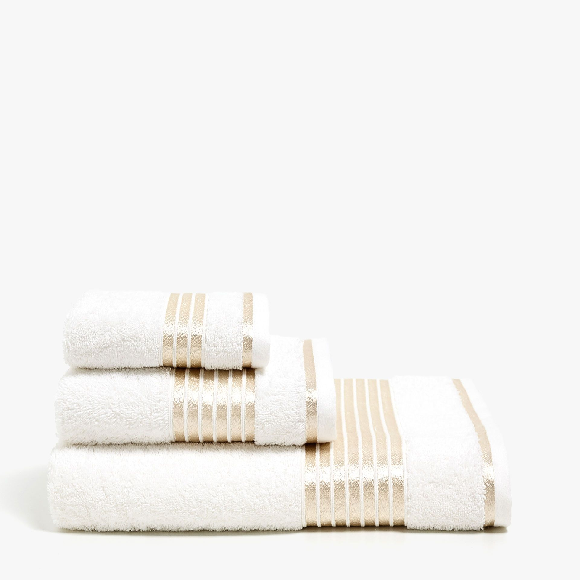 Towel With Gold Stripes Towels Bathroom Zara Home United States Of America Striped Towels Zara Home Towel