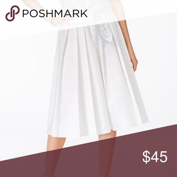 Michael Kors Pleated Skirt White, cotton, elastic waist, A-Line. Brand new, never worn, tags attached! Michael Kors Skirts A-Line or Full