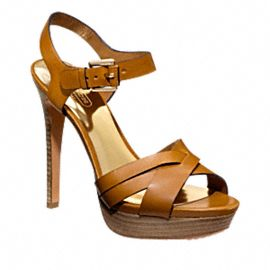 DANI HEEL from Coach in tan - so perfect for dressing up summer dresses