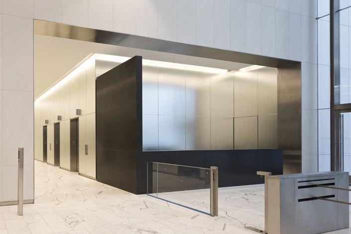 250 West 55th Street Turner Construction Company Office Design Office Lobby Design