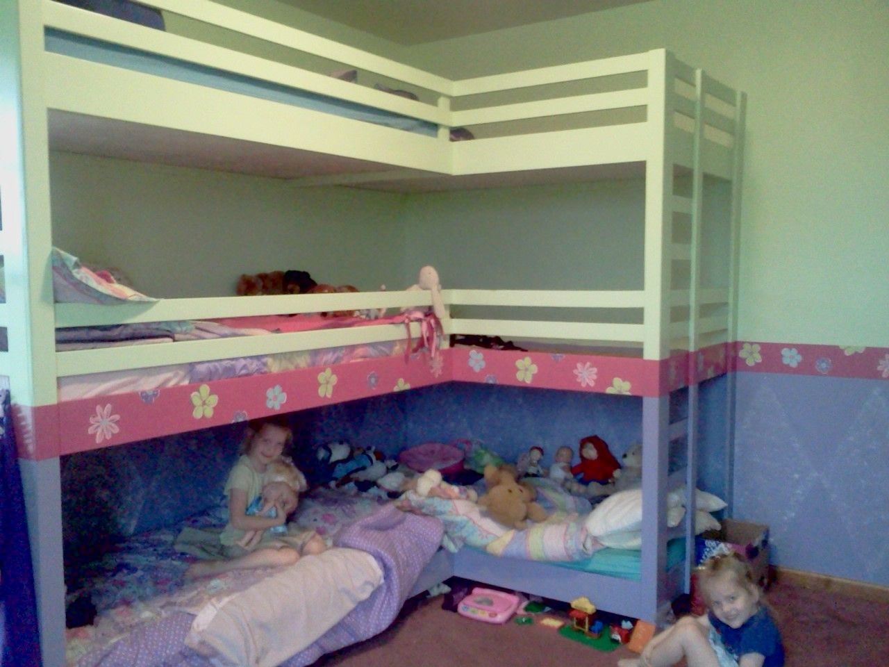 Peaceful Home Girls Double Triple Bunk Beds Large Families