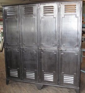 Ancien Vestiaire 4 Portes Chineurs Industriels Portes Vestiaire Style Industriel