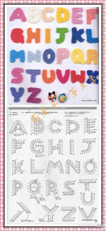 Knitting Letters Chart : Alfabet haken kleine letter a tot z d i y chrochet