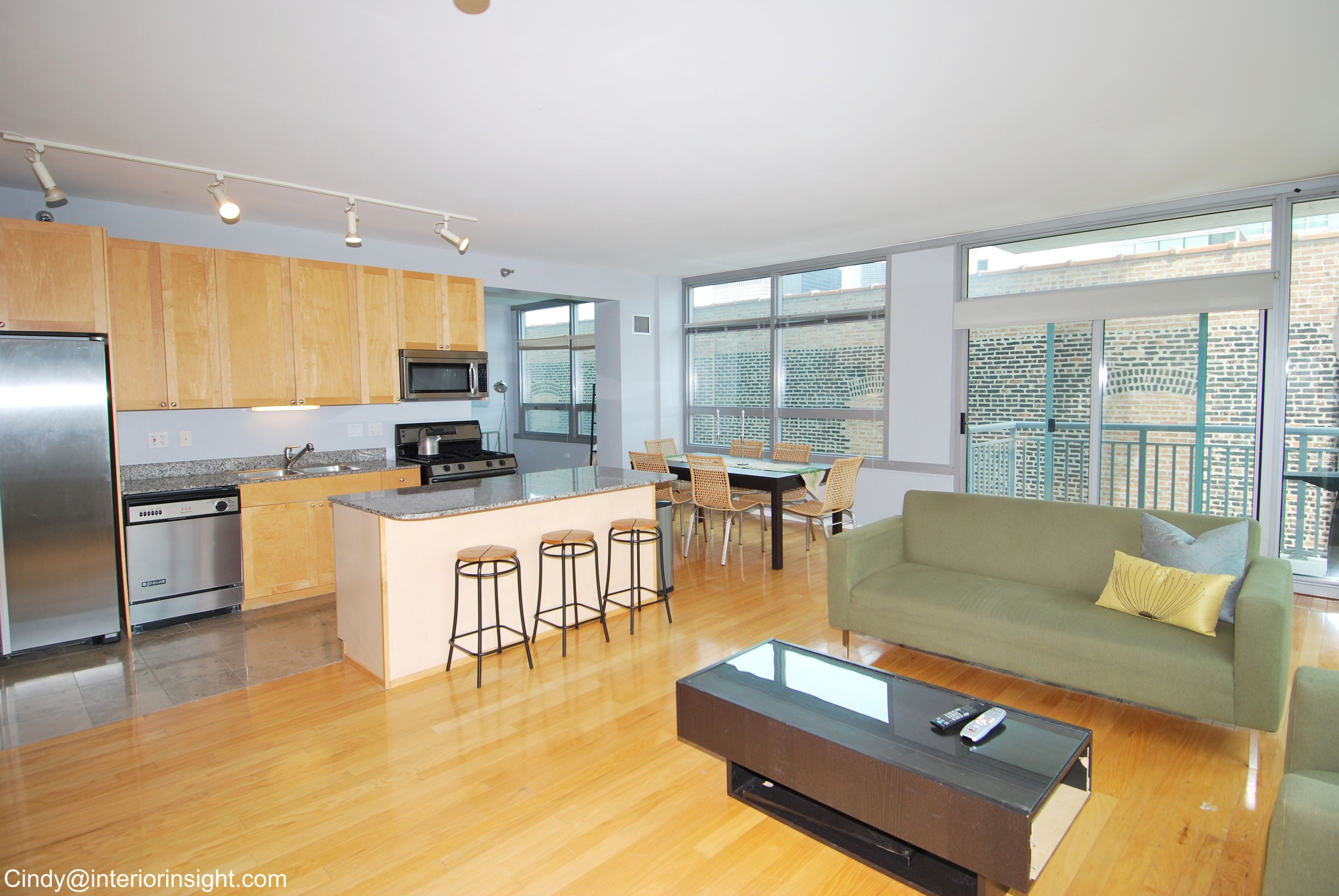 Loft Kitchen Dining Living Room in Chicago Located in the ...