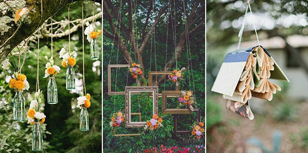 Hello sunshine 10 outdoor wedding decor ideas weddings wedding hanging decor for your outdoor wedding onefabday junglespirit