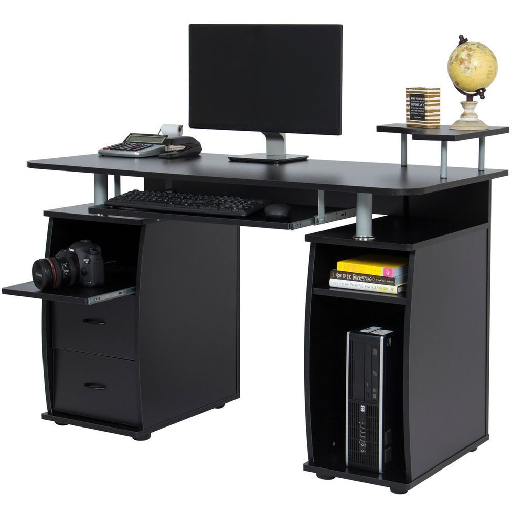 Best Homeoffice Desk: Work Station Study Computer Desk Home Office W/ Monitor