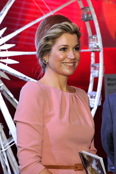 Queen Maxima at the Museum of Fashion and Design in Paris at the state visit to France. March 2016