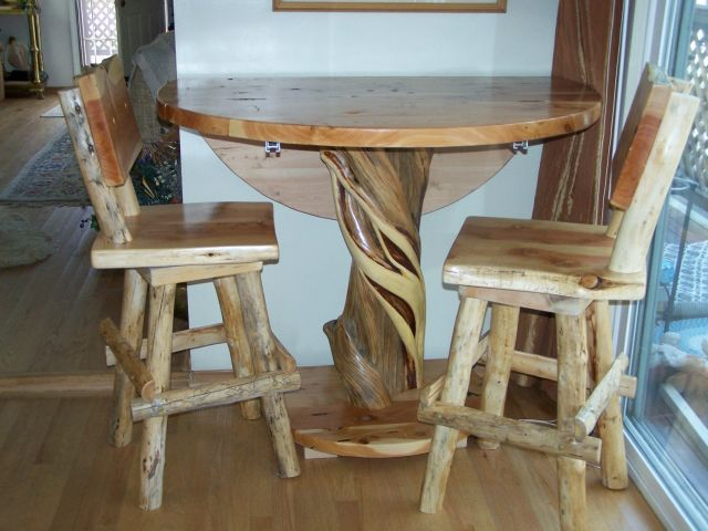 Daves Custom Juniper (Cedar) And Blue Pine Log Furniture, Custom Juniper  Log Dining Tables, Layaway Available, Guarantee, Custom Log Furniture Pub  Table Or ...