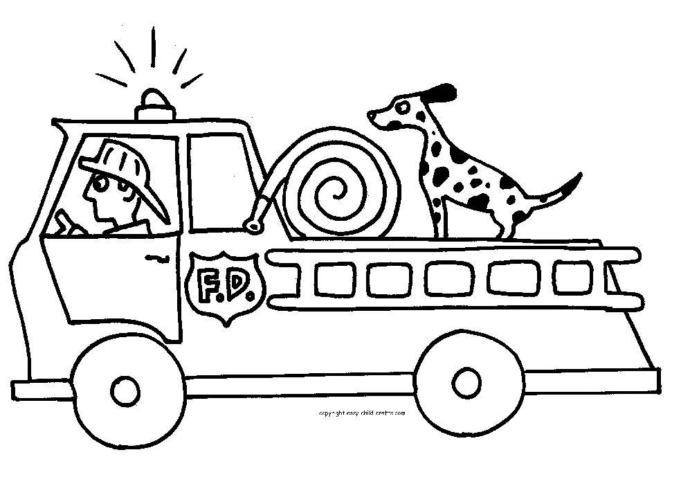 Free Fire Truck Coloring Pages Print Firetruck Coloring Page Truck Coloring Pages Fire Trucks