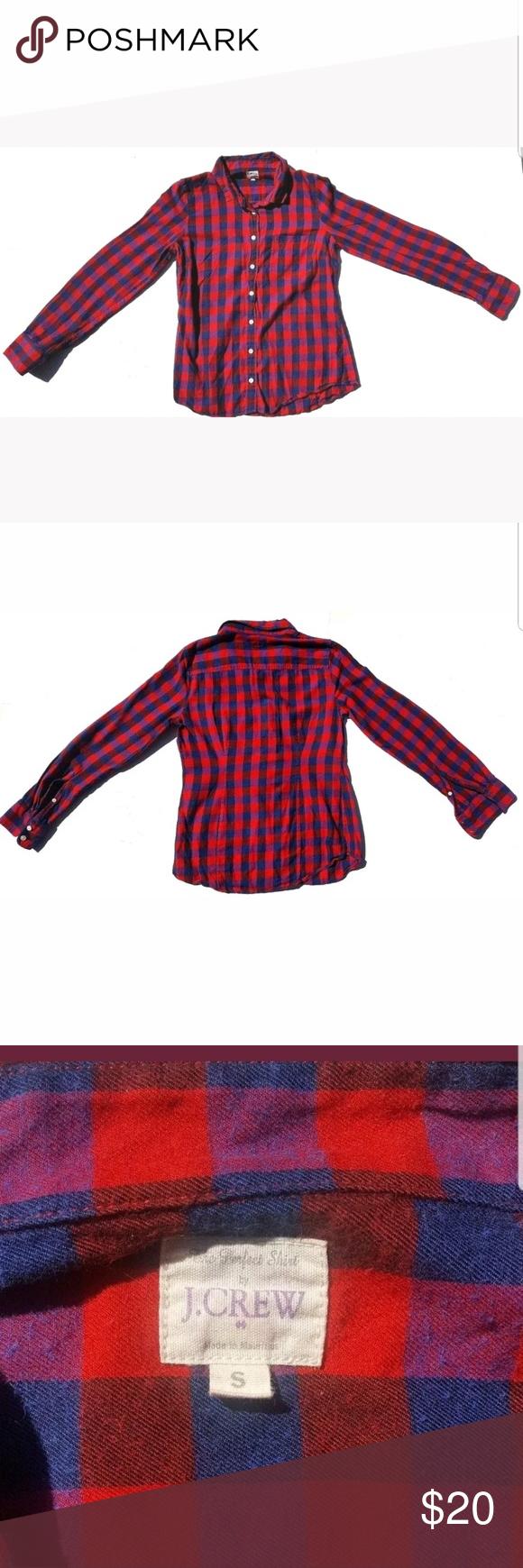Navy blue flannel shirt womens  J Crew Womenus Shirt Button Down Size Small J Crew Womenus Shirt