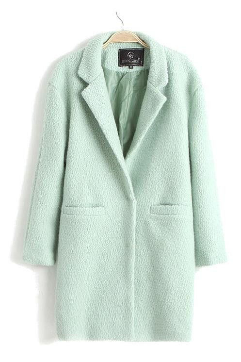 #mint green long wool pea coat http://rstyle.me/n/hjtdzr9te