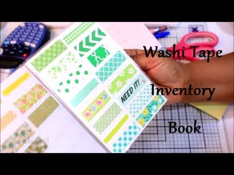 Making a washi tape inventory list Must do this Scrapbooking - inventory list
