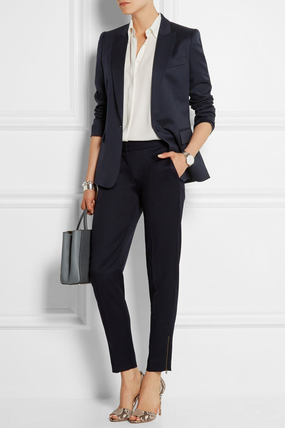 Stella McCartney | Vivian wool-gabardine tapered pants | NET-A-PORTER.COM