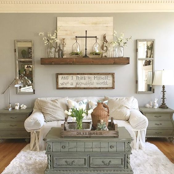 16 Enticing Wall Decorating Ideas For Your Living Room: Floating Shelf Ideas For Your Bedroom, Living Room