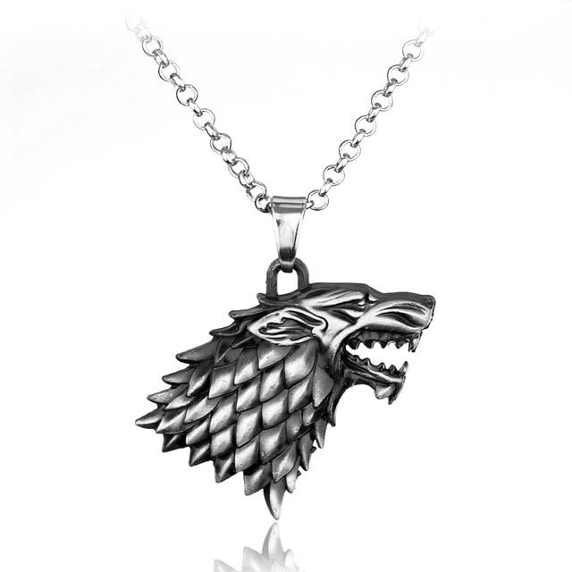 Wolf Head Stark Game Of Throne Necklace Game of thrones