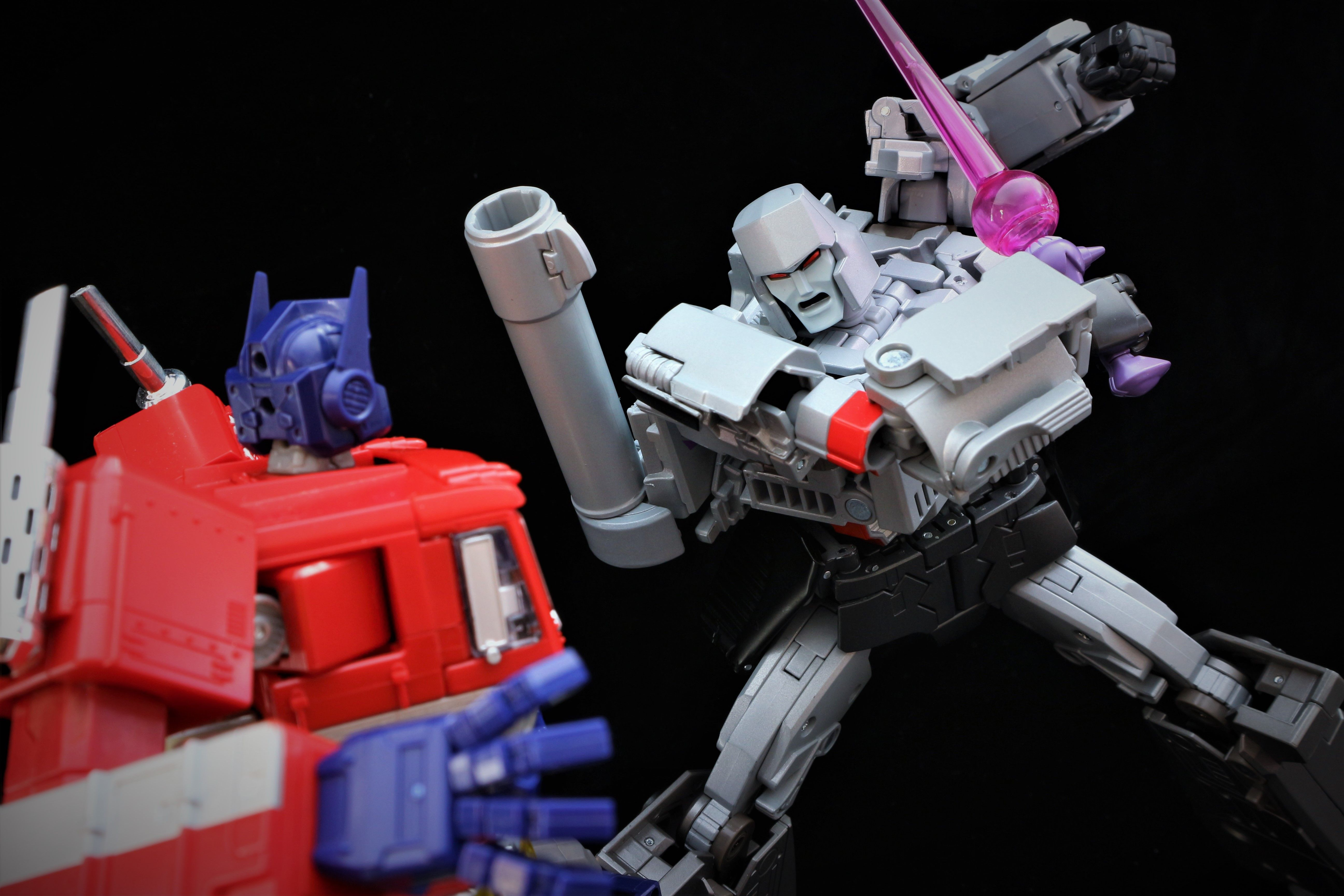 Transformers Masterpiece Mp 36 Megatron With 10 Convoy Optimus Prime