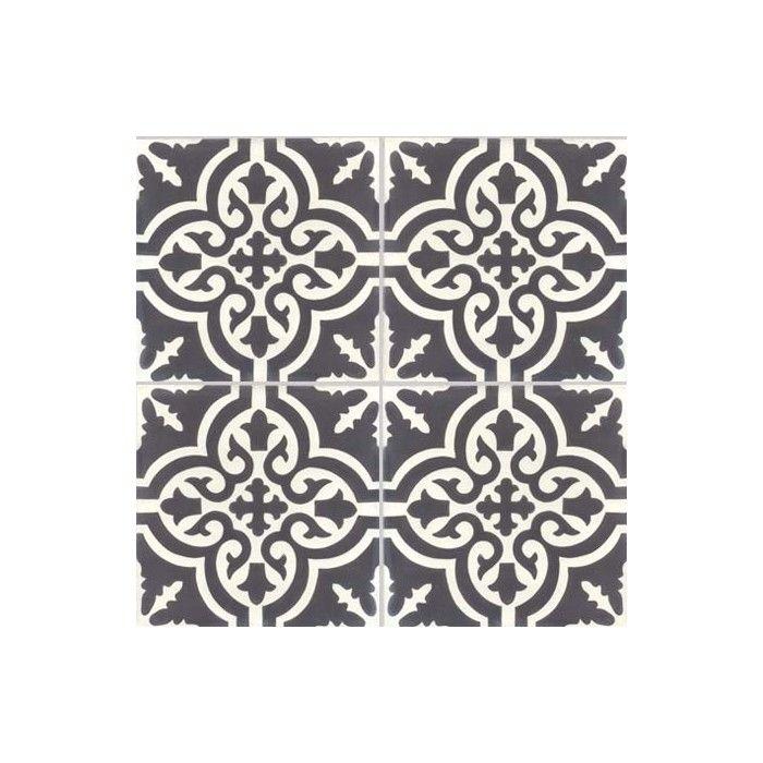 Carreau De Ciment Colore Motif 4 Carreaux Beige Et Marron Nc06