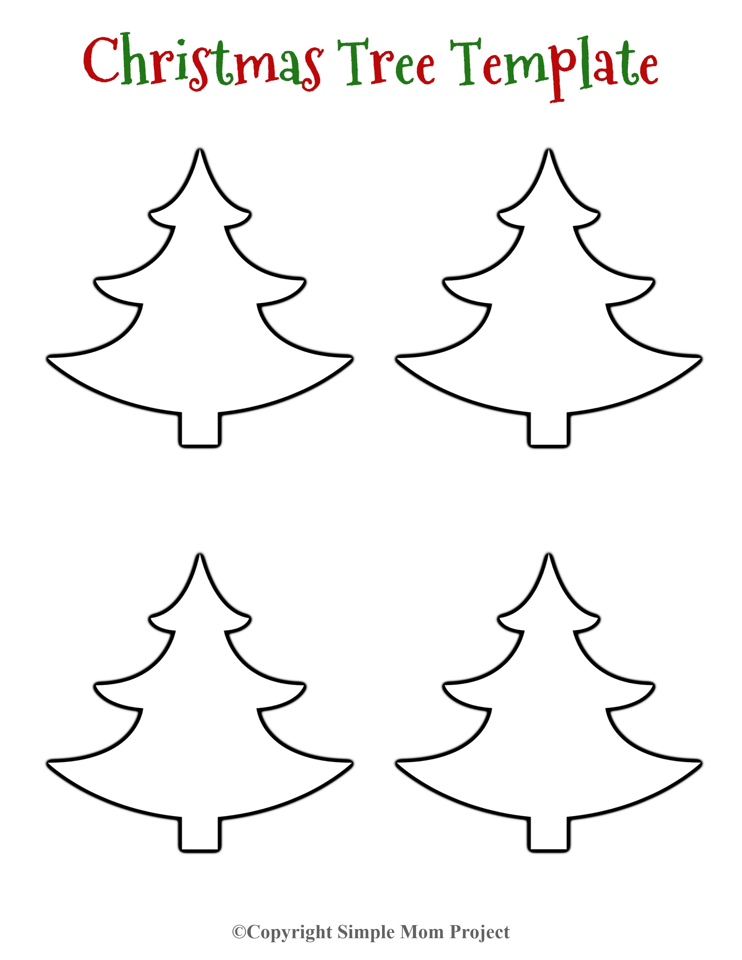 8 Free Printable Large Snowflake Templates Simple Mom Project Christmas Tree Template Diy Christmas Tags Free Christmas Printables