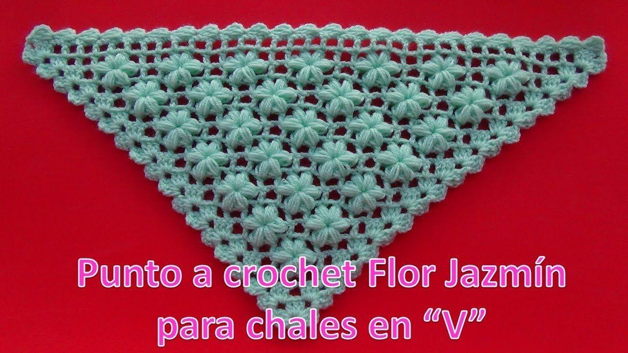 Como Tejer Punto A Crochet Para Chales Flor Jazmín En Segunda Forma Paso A Paso Youtube Puntos Crochet Tejidos De Punto Chal Tejido A Crochet