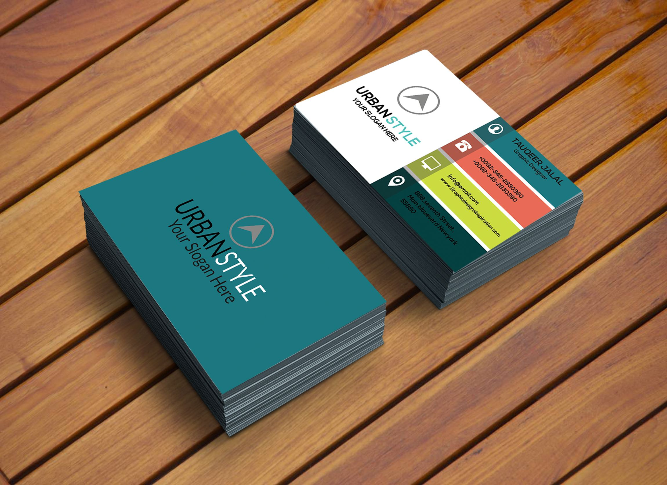 fresh business card psd templates