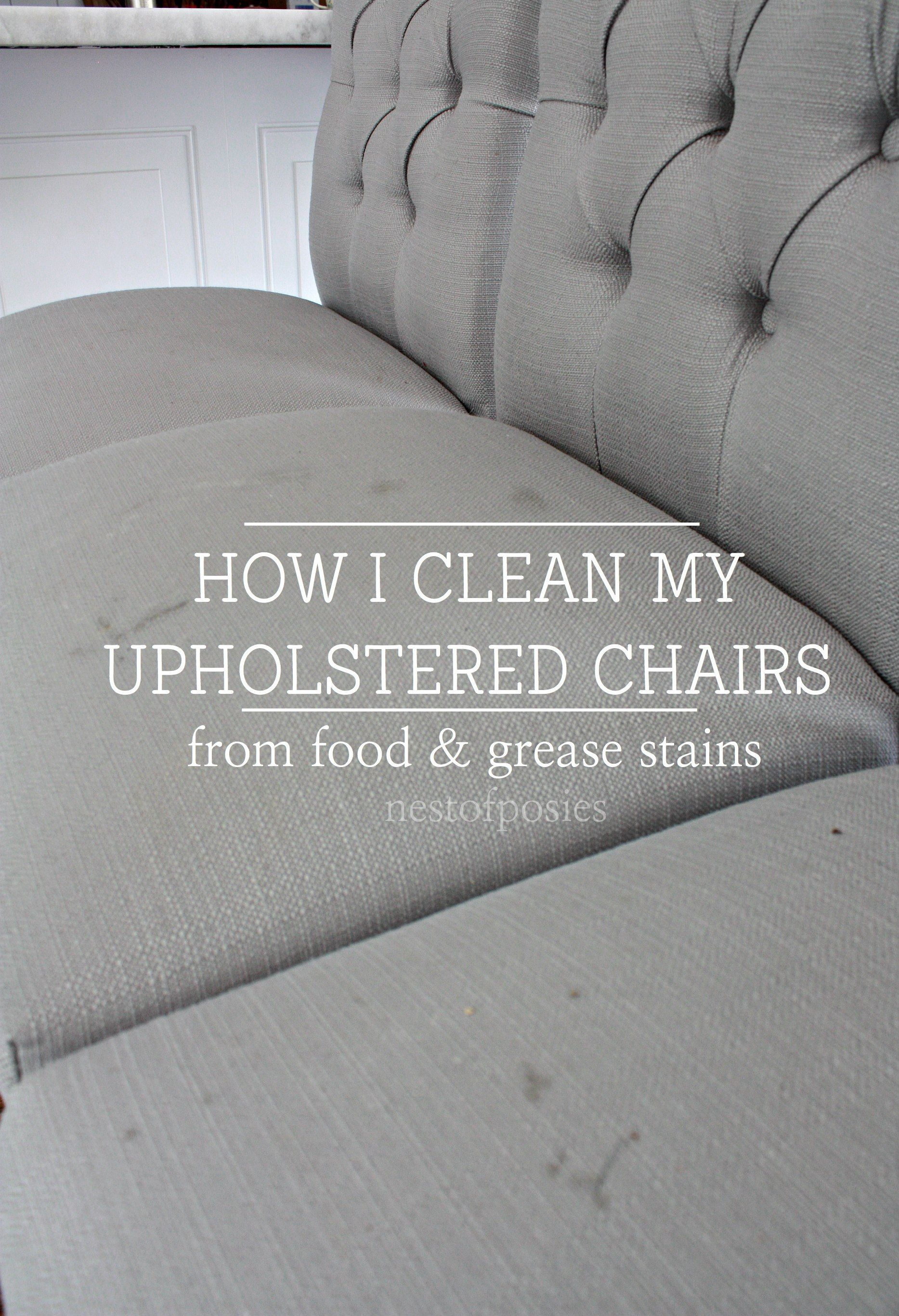 How I Clean My Upholstered Bar Stools From Food And Grease Stains Cleaning Furniture
