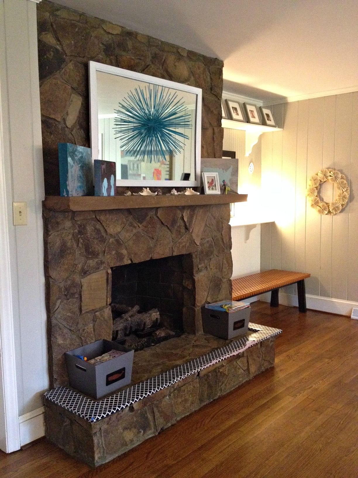 Painting a Stone Fireplace....Finally, I Did It. - | Paint ...