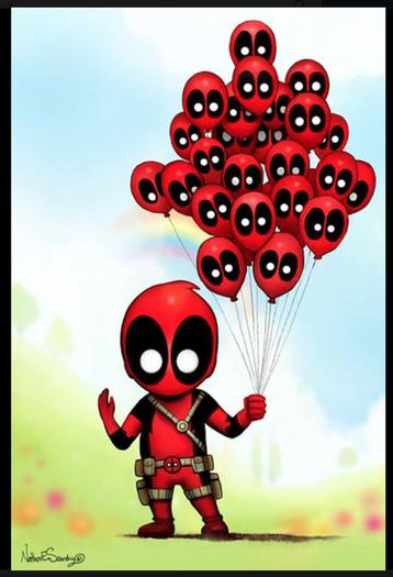 35f8b4c8269 Deadpool Balloons by Nathan Szerdy